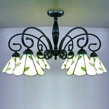 tiffany chandelier lighting inch white stained glass green leaf 6 light chandelier ceiling light tiffany style chandelier lighting