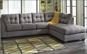 Grey Sofa With Chaiseunge Attachedgreyunges And Black Striped
