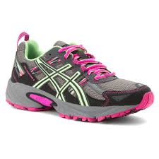 asics gel venture 5 women s trail running shoes 6644541 titanium pistachio pink glow