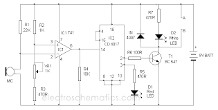 ic 4017 circuits and projects Simple Wiring Diagrams at 4017 Wiring Diagram