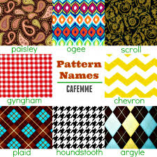 Pattern Names Awesome 48 Pattern Names Cafemme