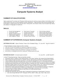 business system analyst resume business analyst resume summary a - Systems  Analyst Resume