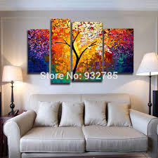 3 piece set bright life tree painting art 100 handmade modern abstract oil painting on canvas wall art tree of life with 3 piece set bright life tree painting art 100 handmade modern