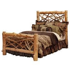 Twig Log Bed - Queen