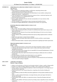 Process Improvement Resume Examples Process Improvement Consultant Resume Samples Velvet Jobs 23
