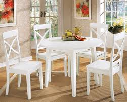 Round kitchen table with leaf Oval Round White Kitchen Table New Home Design Old Models Regarding 14 Starchild Chocolate Brown Dining Chair Tips For Round White Kitchen Table Sets