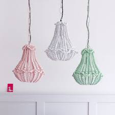 marla beaded chandelier pink