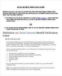 Proof of In e Letter Social Security