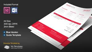 software quotation format in word free invoice quote template word indesign abdulla hussain