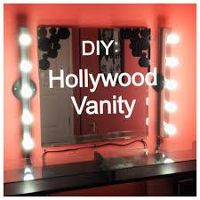 vanity light strip plug in diy saay hollywood you 1