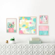 pastel wall art set