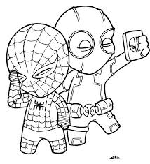 Small Picture Deadpool Coloring Pages For Kids And For Adults Coloring Home