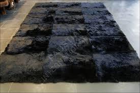 black fur rug cievi home regarding plans 12