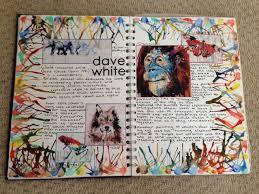 art page building 22 10 14 gcse david white artist research sketchbook ideas