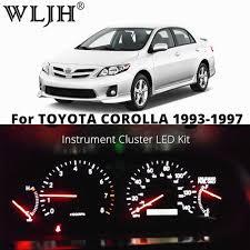 Toyota Corolla 2019 Dashboard Warning Lights Wljh 7 Colors Led Speedometer Tachometer Dashboard