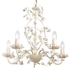 endon lighting lullaby 5cr cream gold range with intricate flower detail and glass drops