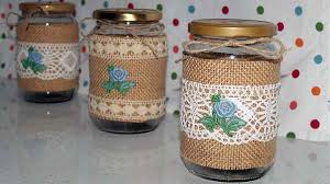 How to decorate glass jars for kitchen