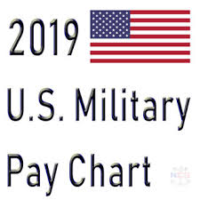 Air Force Enlisted Pay Chart 2019 2019 Military Pay Chart 2 6 All Pay Grades