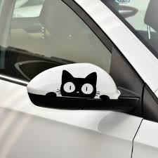 <b>1 Pcs Universal</b> Surprise Cat Peeking Sticker Black/White Funny ...