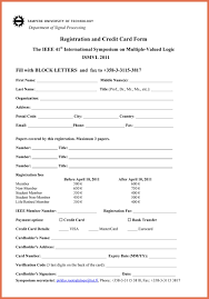 printable registration form template printable registration form template bio example