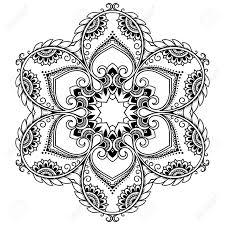 ベクトル ヘナ タトゥー マンダラ一時的な刺青スタイルオリエンタル スタイルで装飾的なパターンは本