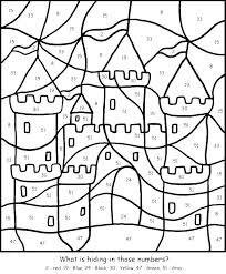 Advanced Color By Number Coloring Pages Color By Number Pages For