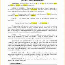 Simple Business Partnership Agreement Template Valid Partnership ...