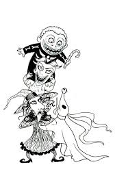 Jack The Pumpkin King Coloring Pages Skellington From Nightmare