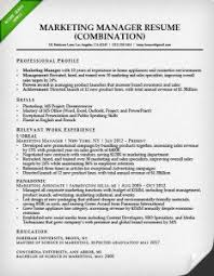 Hybrid Resume Template 11 Marketing Manager Combination Sample