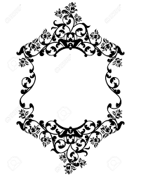 Black And White Vintage Design Rose Flowers Black And White Vintage Style Vector Frame Decorative