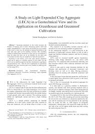 What Is The Study Of Light And Its Properties Pdf A Study On Light Expanded Clay Aggregate Leca In A