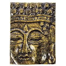 buddha wall hanging black gold