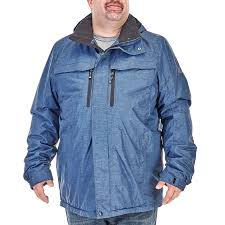 mens tall fleece lined active jacket with detachable hood