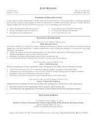 Fashion Internship Resume Sample Fashion Pr Resume Public Relations ...