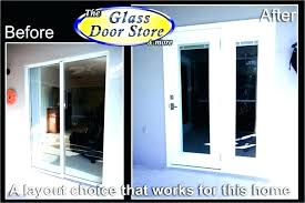 replace sliding glass door with french doors replace sliding glass door ides how to shower rollers