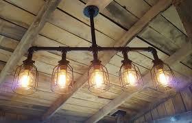 lighting copper pipe ceiling light black diy water lamp fixture