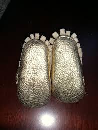 Jaxhoo Shimmery Gold Mary Janes Size 1