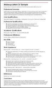 resume templates uk makeup artist cv sample myperfectcv