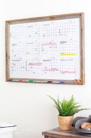 make your own dry erase calendar board with only 2 steps includes a free printable
