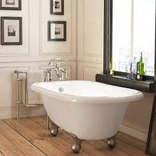 small clawfoot tub. Luxury 54 Inch Small Modern Clawfoot Tub In White With Stand Alone Pertaining To Freestanding Plans 6
