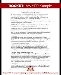 Employment Termination Agreement Simple Employee Retirement Rocket Lawyer