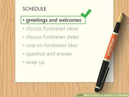 How To Write An Agenda Of A Meeting How To Write An Agenda For A Meeting With Sample Agendas