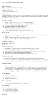 Entry Level Office Assistant Resumes Executive Assistant Resumes Uwaterloo Co