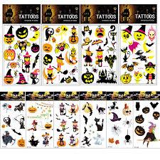 Amazoncom 99pcs Halloween Temporary Tattoo For Kids Value Pack