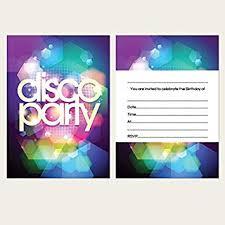 Childrens Disco Invitations Kids Birthday Invitations Disco Party Pack Of 10