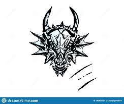 Dragon Illustration Sketch Of Tattoo Stock Illustration
