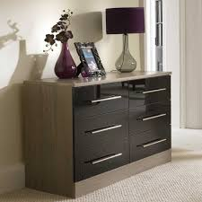bedroom furniture black gloss. a fabulous combination of walnut veneers with black high gloss drawers and metal handles smooth bedroom furniture