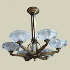 art deco chandelier french antiques nz crystal nouveau lightingier