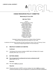 acronym list   human resourceshuman resources policy committee m i n u t e s