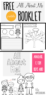 All About Me Worksheet For Kids